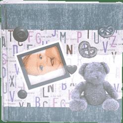 FOTOALBUM dětské 10x15/200 foto - modré