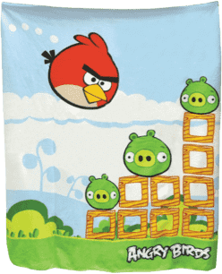 MIKRO TRADING Deka Angry Birds modro-zelená