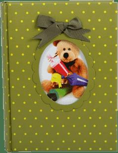 FOTOALBUM detský 200 fotografií (10x15cm) - zelený medvedík