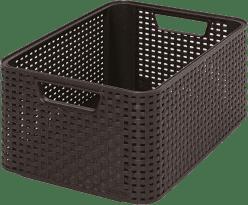 CURVER Košík My Style Box M, hnědý