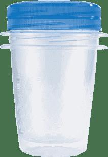 CURVER Dózy na jedlo Take Away Twist 2 x 1l, modrá