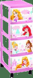 CURVER Regał z szufladami (kółka) Princess, 4x10l