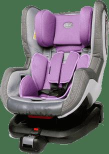 4BABY Autosedačka Neo-FIX (0-18kg) - fialová