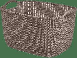 CURVER Košík obdélníkový Knit 19l, hnědý
