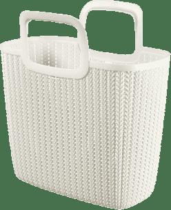 CURVER Nákupná taška Knit, biela