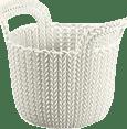 CURVER Košík kulatý Knit 3l, bílý