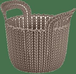 CURVER Košík guľatý Knit 3l, hnedý