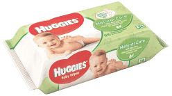 HUGGIES® Single Natural Care, 56 ks - vlhčené obrúsky
