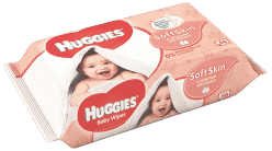 HUGGIES® Soft Skin vlhčené obrúsky Single 64 ks (Feedo klub)