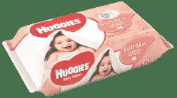 HUGGIES® Soft Skin vlhčené ubrousky Single 64 ks (Feedo klub)