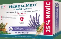 HERBALMED Dr.Weiss Šalvěj+ženšen+vitamin C 24+6 pastilek při nachlazení