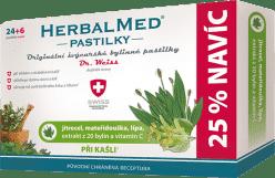 HERBALMED Dr.Weiss Skorocel + materina dúška + lipa + vitamín C 24 + 6 pastiliek pri kašli