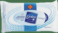 LINTEO Satin univerzální vlhčené ubrousky s antibakteriální přísadou 40 ks, 1 vrstvé