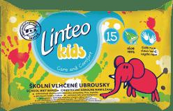 LINTEO Kids vlhčené obrúsky školské 15 ks