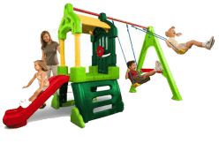 MGA Centrum zabaw Clubhouse Swing Set Natural