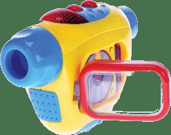 MIKRO TRADING Videokamera so svetlom a zvukom - žltá