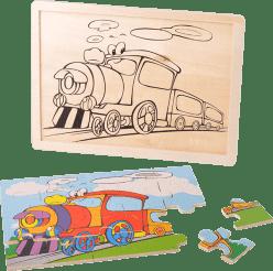 MIKRO TRADING Puzzle dřevěné dopravní prostředky - vláček