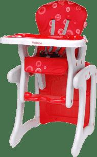 4BABY Stolička Fruity fashion - červená
