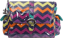 KALENCOM Prebaľovacia taška Buckle Bag Rainbow Zigzag