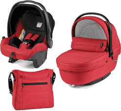 PEG-PÉREGO Set korbička + autosedačka + taška modular XL Mod red