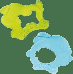 CANPOL Babies Chladiace hryzátko pes / zajac - zelená