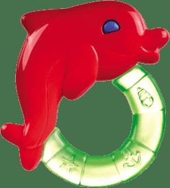 CANPOL Babies Chladiace hryzátko s hrkálkou-delfín-rôzne farby