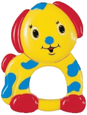 CANPOL Babies Plyšové chrastítko pejsek
