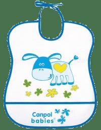 CANPOL Babies Plastový bryndák měkký – modrý