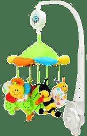 CANPOL Babies Kolotoč plyšový s baldachýnom lúčna zvieratka