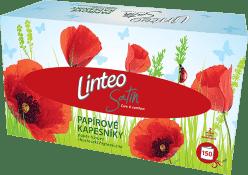 LINTEO – chusteczki higieniczne, białe, dwuwarstwowe, papierowe pudełko (box), 150 szt.