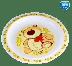 CANPOL Babies Plastový tanier - žltá