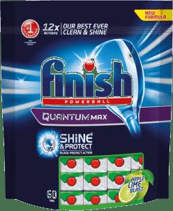 FINISH PB Tabs Quantum Shine & Protect Apple & Lime 60 ks