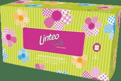 LINTEO – chusteczki higieniczne, białe, dwuwarstwowe, papierowe pudełko (box), 200 szt.