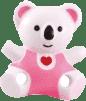 CANPOL Babies Retiazka na cumlík medvedík so srdiečkom - ružová