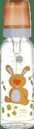 CANPOL Babies Fľaša s potlačou 250 ml bez BPA - zajačik