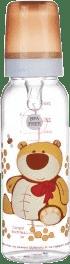 CANPOL Babies Fľaša s potlačou 250 ml bez BPA - medvedík