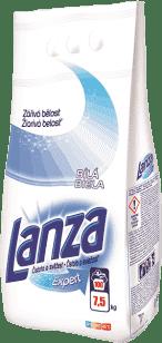 LANZA Expert Biela 7,5 kg (100 dávok) - prací prášok
