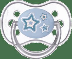 CANPOL Šidítko silikonové třešinka 18 m+ NEWBORN BABY – modré