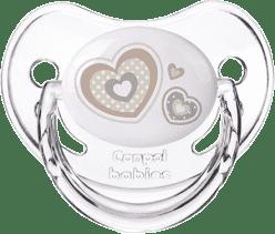 CANPOL Šidítko silikonové anatomické 6-18m NEWBORN BABY – bílý