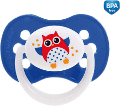 CANPOL Cumlík silikónové symetrické 0-6 m SOVA - tmavo modrá
