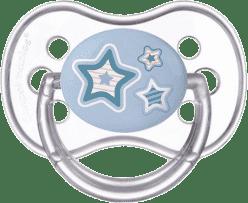 CANPOL Šidítko silikonové symetrické 18 m+ NEWBORN BABY – modrý