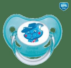 CANPOL Babies A - Šidítko kauč. anatomické 0-6m Fairy Tale – modré