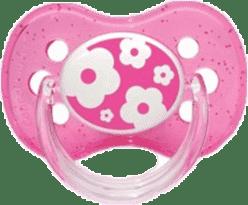 CANPOL Babies B - Šidítko kauč. třešinka 6-18m NATURE – růžové