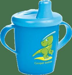 CANPOL Babies Nevylévací hrníček Anywayup – modrý 250 ml
