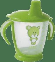 CANPOL Babies Nevylévací hrníček Teddy Friend- zelená 180 ml
