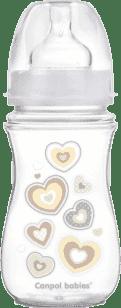 CANPOL Láhev EasyStart Newborn baby 240ml 0% BPA – bílé víčko