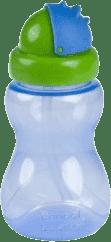 CANPOL Babies Láhev sportovní se slámkou malá- modrá 270 ml