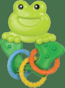CANPOL Babies Chrastítko zvířátko s kroužky - žába