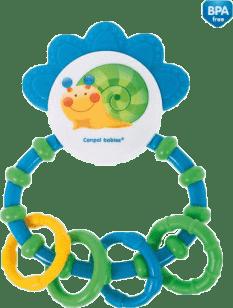 CANPOL Grzechotka z gryzakiem Happy Garden – niebieska