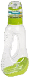 CANPOL Babies Butelka z dziurką 250ml i grzechotką bez BPA- zielona